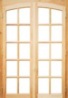 Porte-fenêtre 2 vantaux cintre surbaissé, crémone simple, ga. 2210x1370mm NEOBAIE