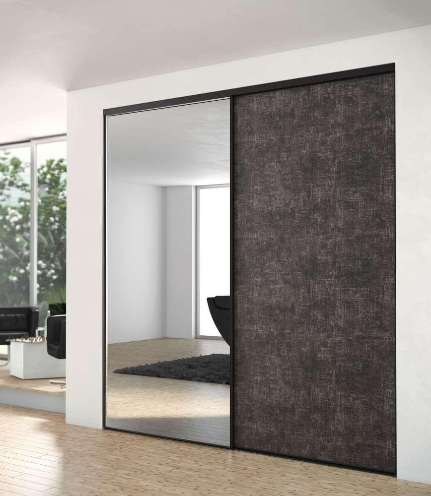 coulissant 2518x1320mm 2 vantaux miroir argent inspiration. Black Bedroom Furniture Sets. Home Design Ideas