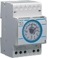 Horloge modulaire journalière + reserve 16A 220V HAGGER
