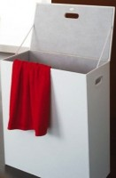 Coffre à linge tissu blanc GEDY
