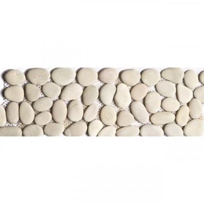 frise galets ronds mat beige 10x30cm boulogne 92100 d stockage habitat. Black Bedroom Furniture Sets. Home Design Ideas