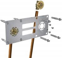 Kit pour fixation 150mm  glissement droite entraxe 15x21diamètre 12mm ROBIFIX