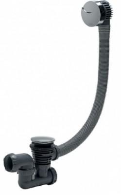 Vidage de baignoire à câble longueur 700mm chromé avec siphon WIRQUIN PLASTIQUES