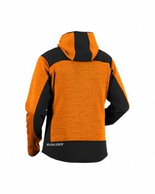 Veste Orangenoir L Capuche Workwear Tricotée Taille Blaklader À qAxqBpr