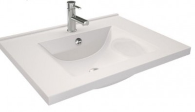 Plan vasque double ORION 140cm blanc DECOTEC