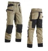 Pantalon en coton poche flottante beige/noir T46/C52