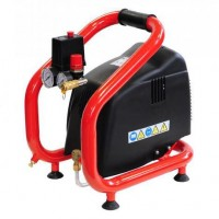 Compresseur 3l 1.5CV 8 bars 11.7m3 rouge