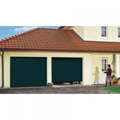 Porte de garage sectionnelle europro double paroi sabl - Porte de garage sectionnelle tubauto ...
