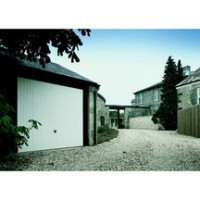 Porte de garage basculante 124 NE vert blanc 2000x2375mm TUBAUTO