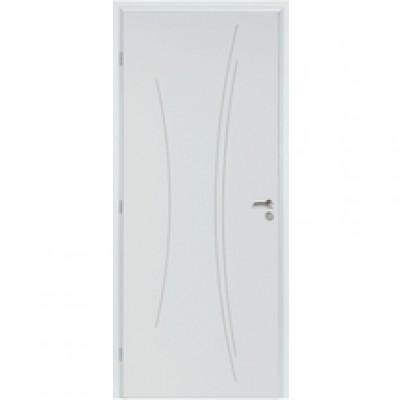 Porte fer plein pré-peint KAORI recouvrement PDDT 83cm droite RIGHINI SAS