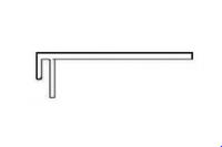 Planche de rive PVC en F 1199 blanc 175x6000mm