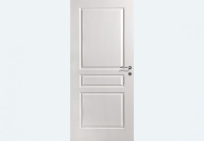 Bloc-porte alvéolaire postformé TD VILLA pré-peint 930 droite poussant huisserie 90x57 rive droite peine dormant 1/2 tour