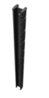 Poteau à encoche PROFIX profil 66x50x1,20mm galvanisé plastifié gris 2000x2000mm