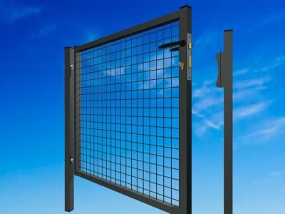 Portail GARDEN standard 50x50mm fil 4.0mm serrure PFZ anthracite 1000x1000mm