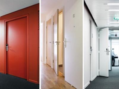bloc porte plane coupe feu 1 2h pr peint 930mm. Black Bedroom Furniture Sets. Home Design Ideas