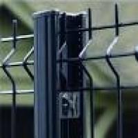 Poteau H EASYCLIP plus système clip profil 66x50x1.20mm galvanisé plastifié gris 2000 2000 profil