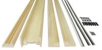 Habillage bois châssis 1 vantail ECLISSE 95 de 630 à 1030mm