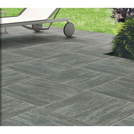 Carrelage 43x43cm manitoba gris vieilli terrasse for Photo terrasse carrelage gris