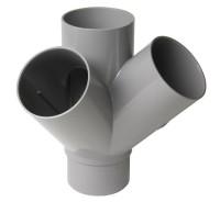 Culotte Mâle-Femelle 45° double d'équerre diamètre 110mm NICOLL