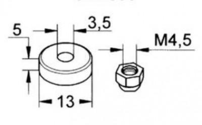 Clapet 12x17 (x10) + écrou (x2) GROHE