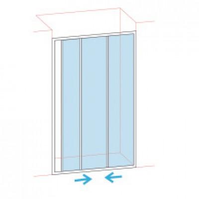 Paroi de douche coulissantes largeur 76/82 verre transparent BASIC SEGMENT