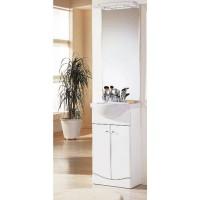 Miroir et bandeaux 45cm luminiueux SLIM blanc BASIC SEGMENT
