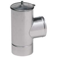 Té aluminium avec purge diamètre 180/186mm TEN