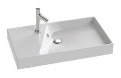 Plan vasque RYTHMIK 80x46cm blanc JACOB DELAFON
