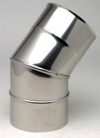 Coude inox 304 BR 45° 2 parties diamètre 130mm TEN