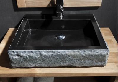 Vasque SAMOA EKOM pierre andes rectangulaire COLLIN ARREDO