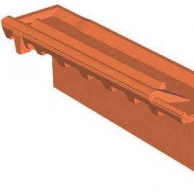 Rive verticale droite romane canal brun rustique limoges for Romane canal prix
