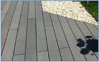 lame de terrasse composite 21x150x2850mm gris ardoise. Black Bedroom Furniture Sets. Home Design Ideas