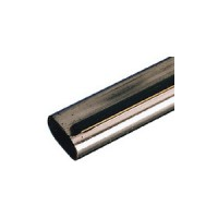 Tube penderie oval acier chromé 15x30x3000mm