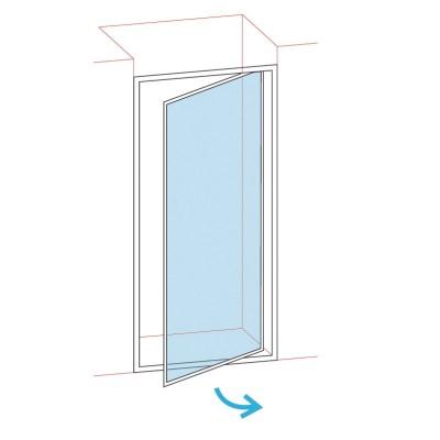 Paroi douche pivotante largeur 76/82 verre transparent BASIC SEGMENT