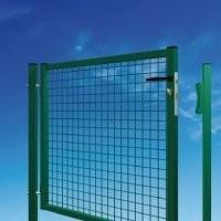 Portail GARDEN standard maille 50x50mm fil 4.0mm serrure PFZ anthracite 1000x1000mm
