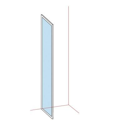 Paroi fixe largeur 86/89cm verre transparent BASIC SEGMENT