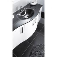 Plan-vasque DUNE verre gris largeur 70cm