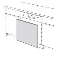 Porte lave-vaisselle écorce cendré 57x59.5cm
