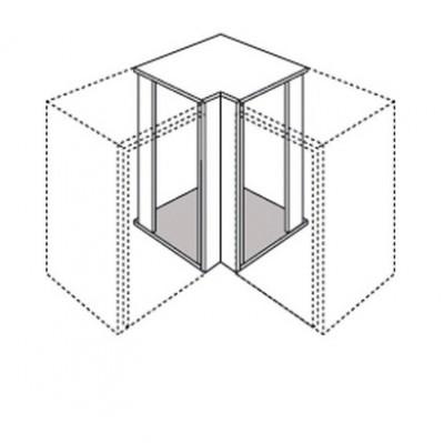 Renvoi angle ZEN blanc à recoupable 70x7x7cm