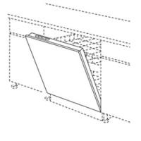 Porte lave-vaisselle 45 FULL TWIST anthracite 69.7x44.5cm