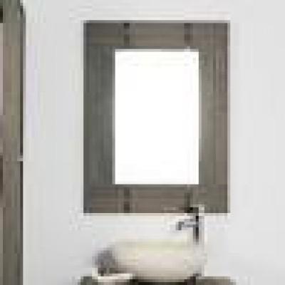 Adptateur miroir loft bois c ruse gris largeur 60cm for Miroir bois ceruse