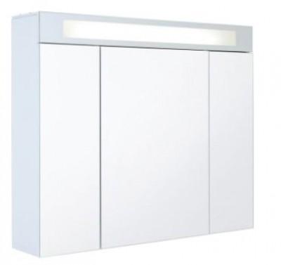 armoire de toilette triptyque gloss blanc brillant avec prise lectrique decotec merignac. Black Bedroom Furniture Sets. Home Design Ideas