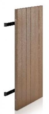 Volet MERANTI bois exotique à poser(06) sur gonds 128x70cm droite