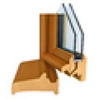 Fenêtre 2 vantaux CLASSIC pin lasure 24 OB 125x120cm