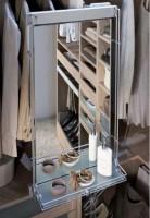 Miroir pivotant avec tablette UNIVERS aluminium