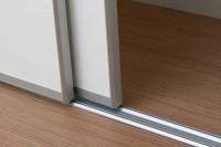 Rails haut+bas apparence wengé largeur 118cm