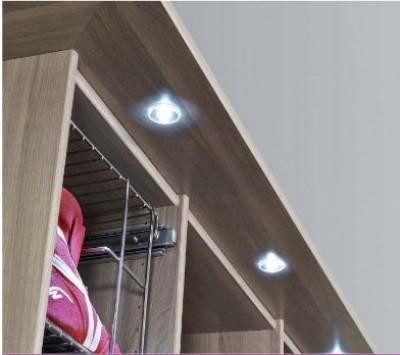 Pack de 2 LED rondes encastrées