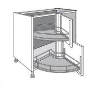Renvoi angle bas / hauteur TWIST gris à rec 70x7x7cm