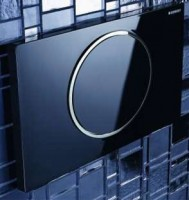 Plaque de commande profil noir brillant pour setin 110