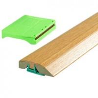 Seuil 3 en 1 chêne naturel vernis épaisseur 10/14mm longueur 166cm